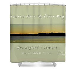 Sunrise Over Malletts Bay Greeting Card And Poster - Six V4 Shower Curtain