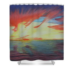 Sunrise Over Matagorda Bay Shower Curtain