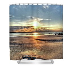 Sunrise Over Red Rock Park Lynn Ma Kings Beach Shower Curtain