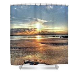 Sunrise Over Red Rock Park Lynn Ma Kings Beach Shower Curtain