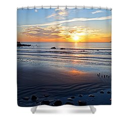 Sunrise Over Red Rock Park Lynn Shore Drive Shower Curtain