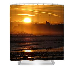 Sunrise Over Sandsend Beach Shower Curtain