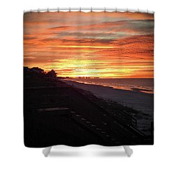 Sunrise Over Santa Rosa Beach Shower Curtain