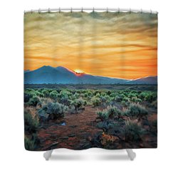 Sunrise Over Taos II Shower Curtain