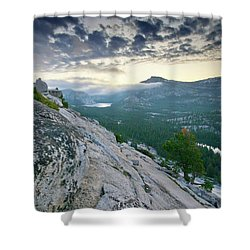 Sunrise Over Tenaya Lake - Yosemite National Park Shower Curtain