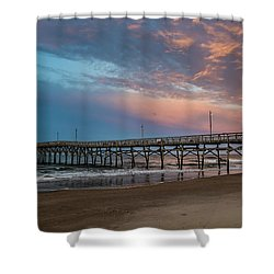 Sunset Over The Atlantic Shower Curtain