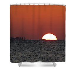 Sunrise Over The Bay 5x7 Shower Curtain