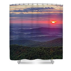 Shower Curtain featuring the photograph Sunrise Over The Blue Ridge by Lori Coleman