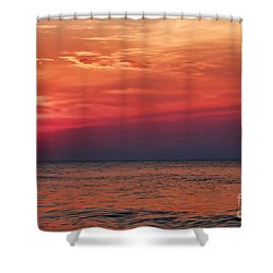 Sunrise Over The Horizon On Myrtle Beach Shower Curtain