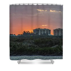 Sunrise Over The Intracoastal Shower Curtain by Nance Larson