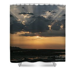 Sunrise Over The Isle Of Wight Shower Curtain