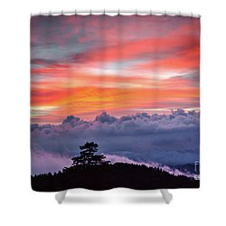 Shower Curtain featuring the photograph Sunrise Over The Smoky's II by Douglas Stucky