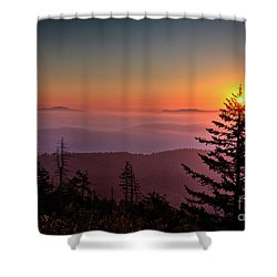 Shower Curtain featuring the photograph Sunrise Over The Smoky's IIi by Douglas Stucky