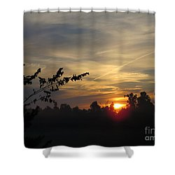Sunrise Over The Trees Shower Curtain