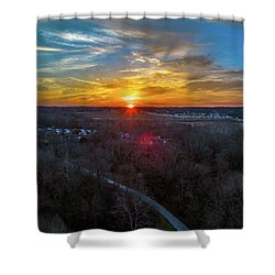 Sunrise Over The Woods Shower Curtain