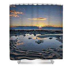 Shower Curtain featuring the photograph Sunrise Over Wells Beach by Rick Berk