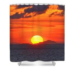 Sunrise Over Western Cuba Shower Curtain