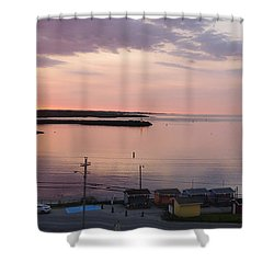 Sunrise Port Aux Basque, Newfoundland  Shower Curtain by Joel Deutsch