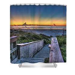 Sunrise Radiance Shower Curtain