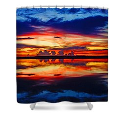 Sunrise Rainbow Reflection Shower Curtain