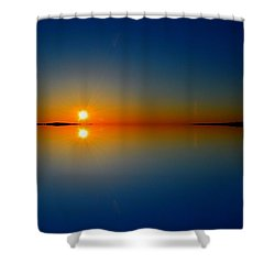 Shower Curtain featuring the photograph Sunrise Reflection 2  by Lyle Crump