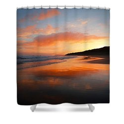 Sunrise Reflection Shower Curtain by Roy McPeak
