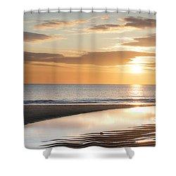 Sunrise Reflections At Aberdeen Beach Shower Curtain