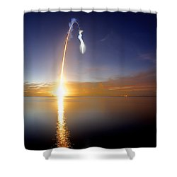 Sunrise Rocket Shower Curtain