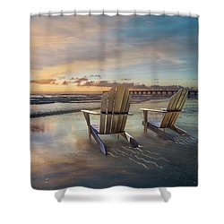Shower Curtain featuring the photograph Sunrise Romance by Debra and Dave Vanderlaan