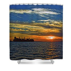 Sunrise Sail Shower Curtain