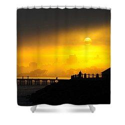 Shower Curtain featuring the photograph Sunrise San Francisco by Steve Siri