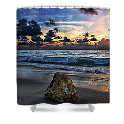 Sunrise Seascape Wisdom Beach Florida C3 Shower Curtain by Ricardos Creations