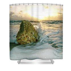 Sunrise Seascape Wisdom Beach Florida C4 Shower Curtain