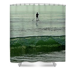 Sunrise Silhouette 004 Shower Curtain by George Bostian