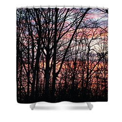Sunrise Silhouette And Light Shower Curtain
