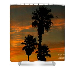 Sunrise Silhouettes Shower Curtain by Janice Westerberg