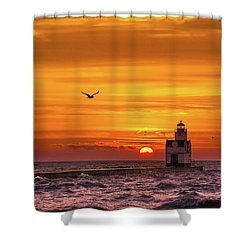 Shower Curtain featuring the photograph Sunrise Solo by Bill Pevlor