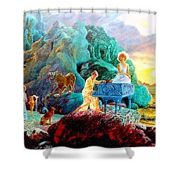 Shower Curtain featuring the painting Sunrise Sonata by Henryk Gorecki