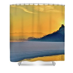 Sunrise Sparkle Shower Curtain