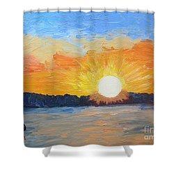 Sunrise Sensation Shower Curtain