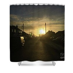 Sunrise Street Shower Curtain