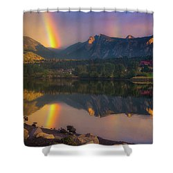 Sunrise Summer Rainbow In Colorado Shower Curtain