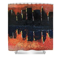 Shower Curtain featuring the painting Sunrise Sunset by Gary Smith