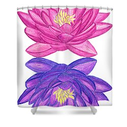 Sunrise Sunset Lotus Shower Curtain
