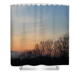Fall Sunset Shower Curtain