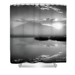 Shower Curtain featuring the photograph Sunrise by Tatsuya Atarashi
