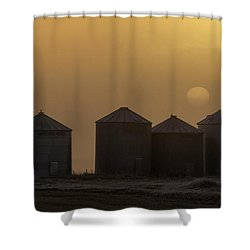 Sunrise Through The Fog Shower Curtain by Brad Allen Fine Art