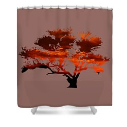 Sunrise Tree 2 Shower Curtain