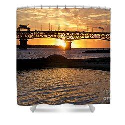 Sunrise Under Coleman Bridge Shower Curtain
