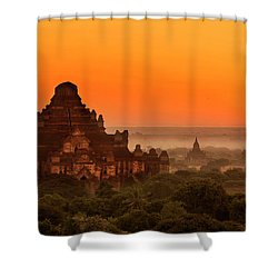 Sunrise View Of Dhammayangyi Temple Shower Curtain
